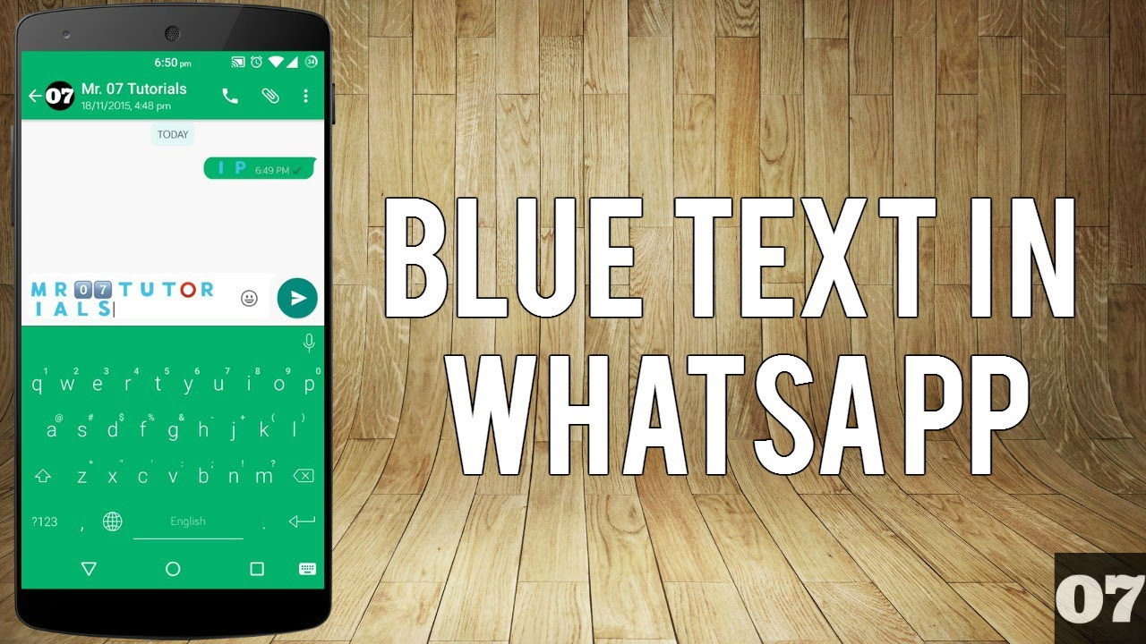 How to Type in Blue Color in WhatsApp? - YouTube