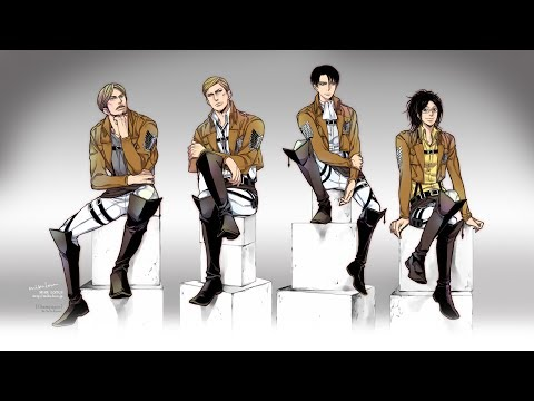 Demons ~ Levi, Erwin, Hanji and Mike ~ Attack on titan AMV