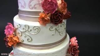 Cabbage Rose & Peony Wedding Cake