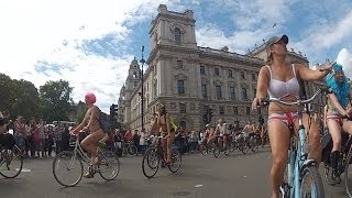 World Naked Bike Ride 2014 - London @WNBRLondon