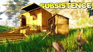 CAN YOU SURVIVE AGAINST MOTHER NATURE'S HARSH WRATH? - Subsistence Gameplay Early Access Part 1