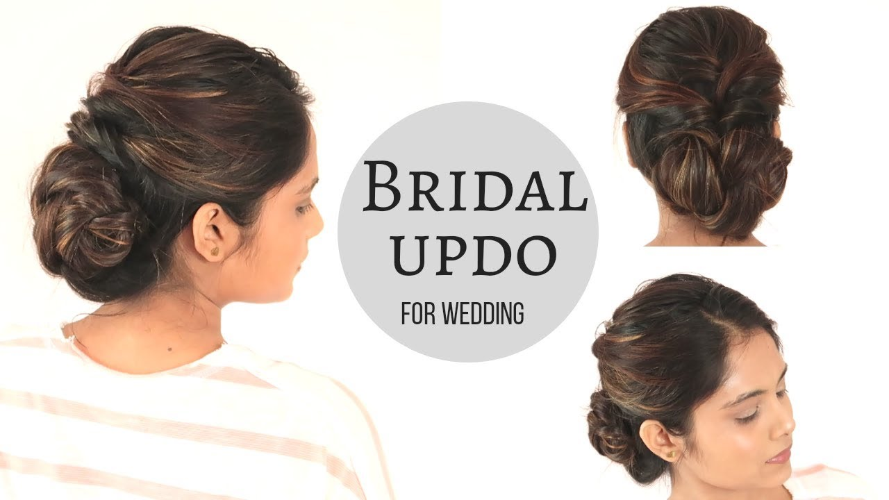 Bridal Hairstyle For Wedding | Low Braid Bun Hairstyle| komal\'s ...