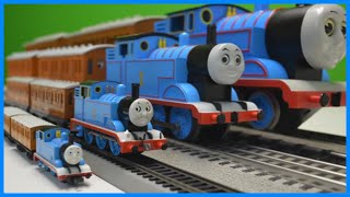 4 SCALES! Thomas the Tank Engine with Annie & Clarabel N, HO, O, G Scale Trains!