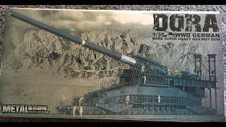 Unboxing Review Dora 1:35 Soar Art Schwerer Gustav 80cm Gun [HD]