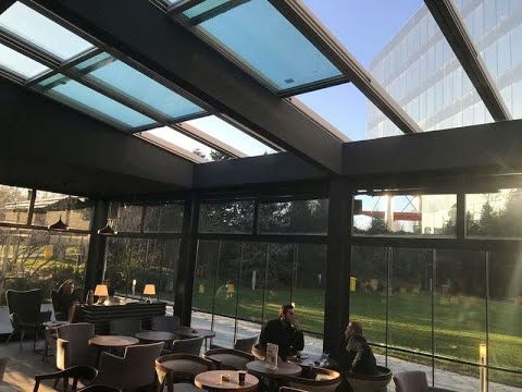 ERBİR YAPI,  cafe restaurant açılır cam tavan, açılır tavan, açılır kapanır tavan
