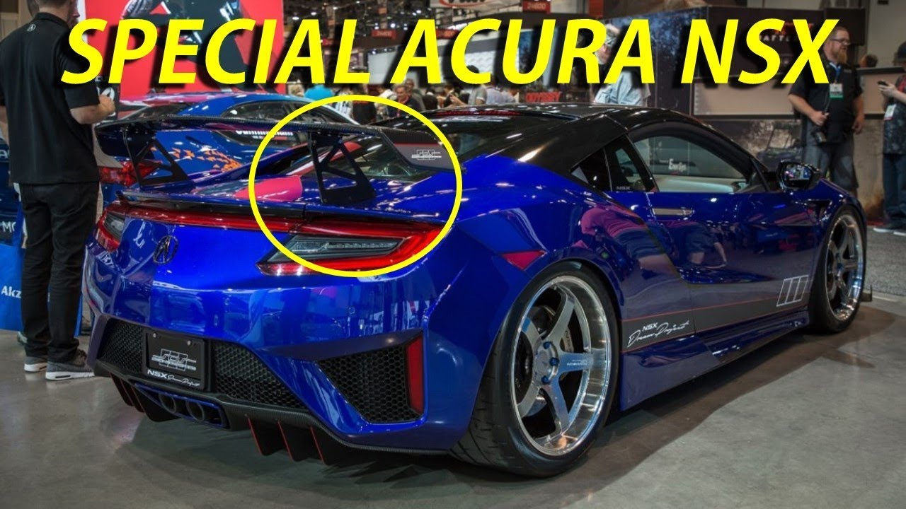 Special Acura Nsx With More Wing 2017 Sema Show