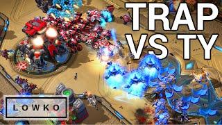StarCraft 2: CAUGHT OFF GUARD! (TY vs Trap)