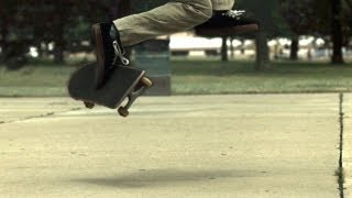 Skateology: Switch front foot impossible (1,000 fps slow mo)