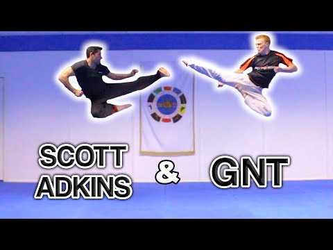 Scott (Boyka) Adkins & GNT Taekwondo Sampler   Flips & Kicks