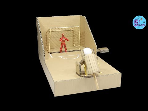 DIY mini Game Superhero vs Football from Cardboard [Crazy ideas]