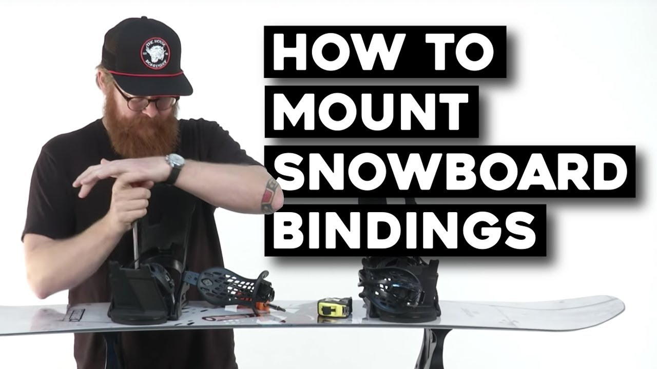 How To Mount Snowboard Bindings The Housecom Youtube