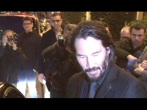 Keanu REEVES à Paris le 20 mars 2014 pour promouvoir 47 Ronin