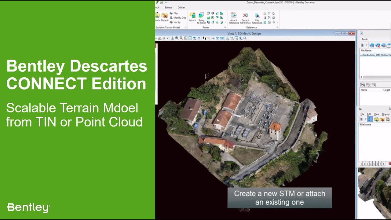 Bentley Descartes CONNECT Edition: Scalable Terrain Model from TIN or Point  Cloud