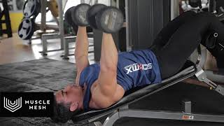 MUSCLEMESH Egzersizleri Decline Dumbell Chest Press - Göğüs