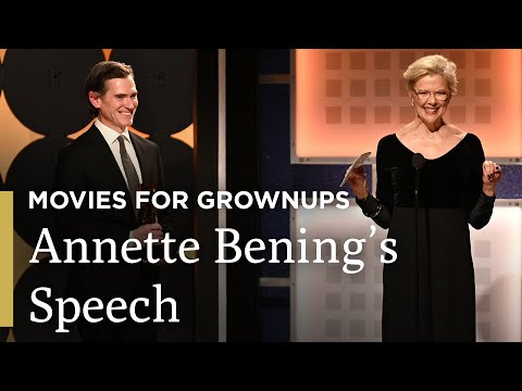 Annette Bening's Acceptance Speech   AARP The Magazine's Movies for Grownups®   Great Performances