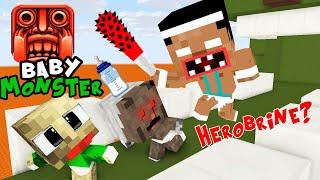 Monster School : BABY FUNNY TEMPLE RUN CHALLENGE - BEST Minecraft Animation