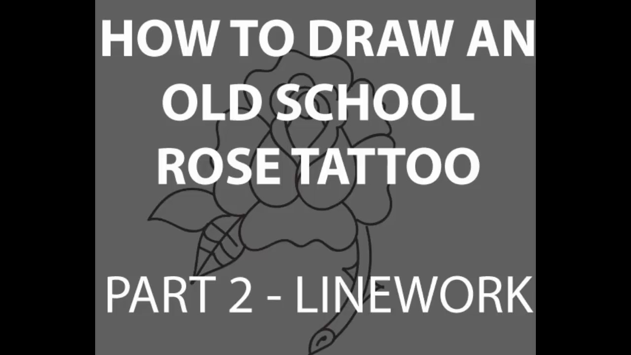 [how To] Draw A Traditional Old School Rose Tattoo Part 2 Inking [narrated