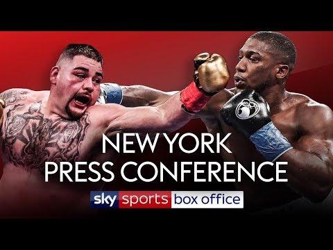 LIVE PRESS CONFERENCE! Andy Ruiz Jr vs Anthony Joshua 2 | In New York City