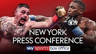 LIVE PRESS CONFERENCE! Andy Ruiz Jr vs Anthony Joshua 2 | In New York City