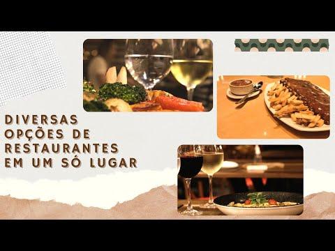 Diversas opções de restaurantes em um só lugar