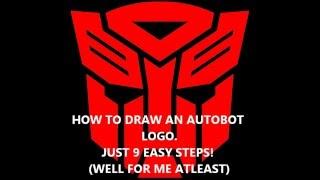 How To Draw The Autobot Logo
