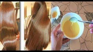 وصفة رائعة تلمع وترطب الشعر التاليف والمتقصف بمكونات متوفرة فى كل بيت