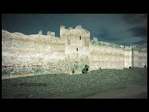 Θεσσαλονίκη. Το παραλιακό τείχος σε 3d rendering. Thessaloniki. The seafront Walls.