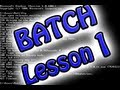 Batch/Cmd Programming: Lesson 1 (Basics)