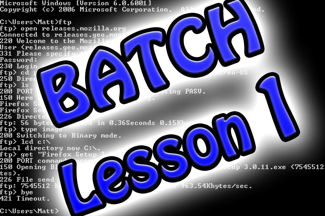 Windows batch programming tutorial 1: basic commands youtube.