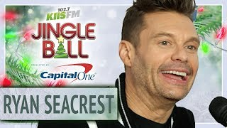 Ryan Seacrest Stops By The Red Carpet At Jingle Ball