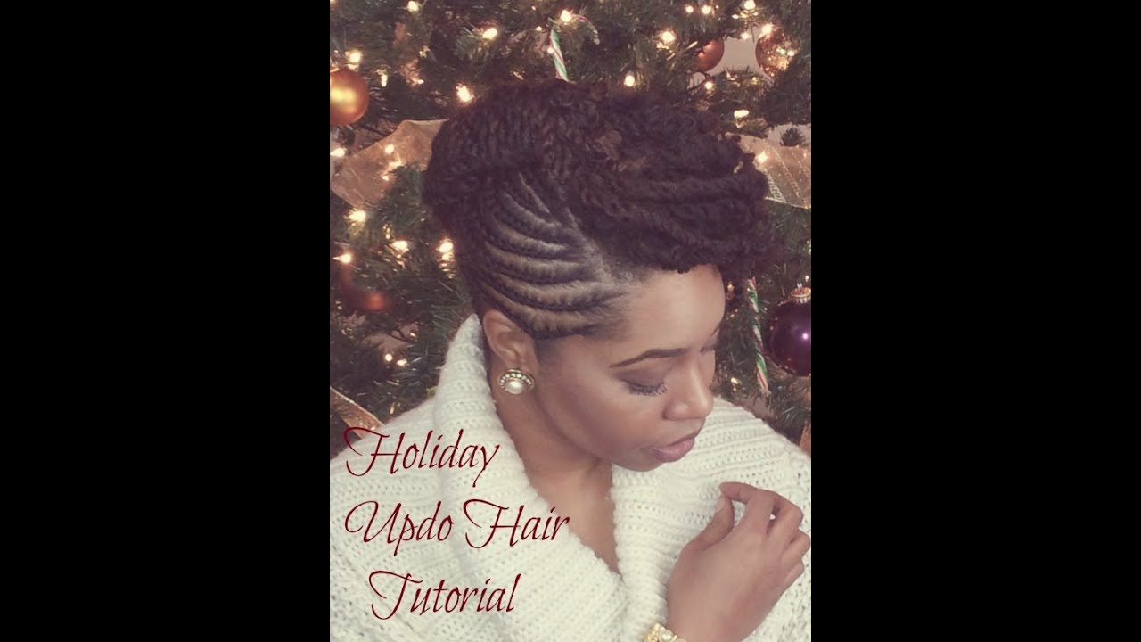 Holiday hairstyle collab holiday updo protective hairstyle holiday hairstyle collab holiday updo protective hairstyle tutorial youtube pmusecretfo Images