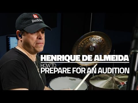 Henrique De Almeida - How To Prepare For An Audition (FULL DRUM LESSON)
