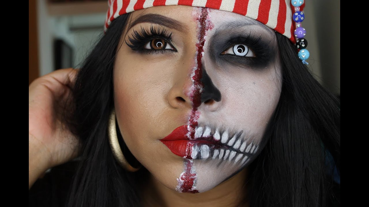 Tutorial de maquillaje Halloween Mujer Pirata Juancarlos960 YouTube