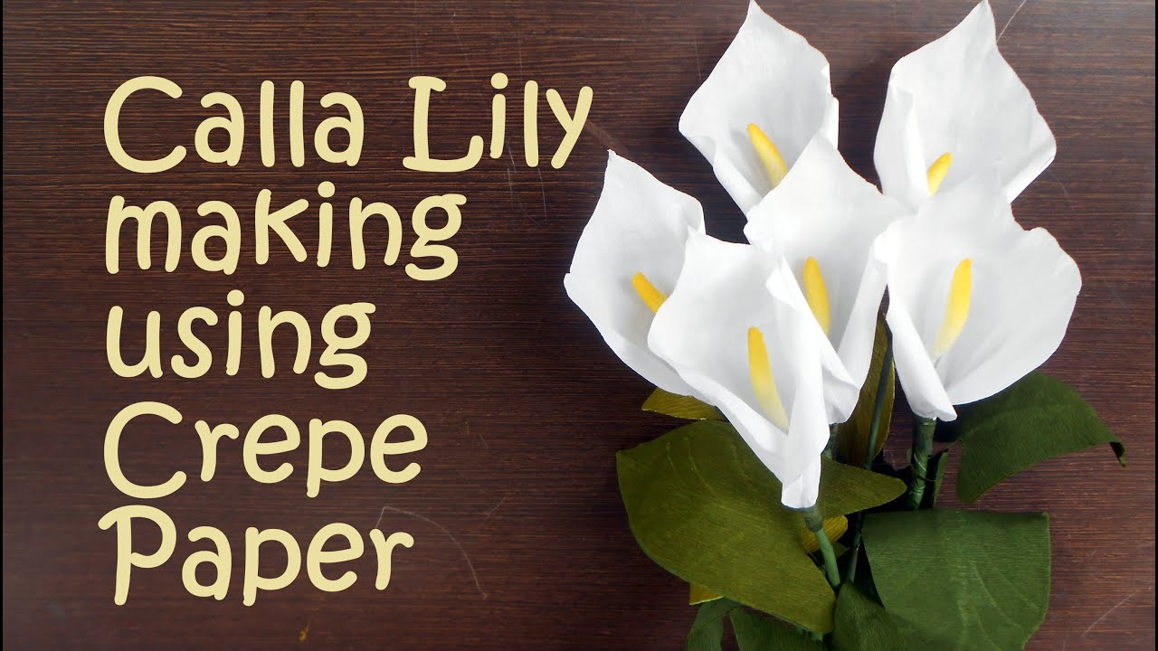 Calla lily from crepe paper tutorial youtube izmirmasajfo Image collections