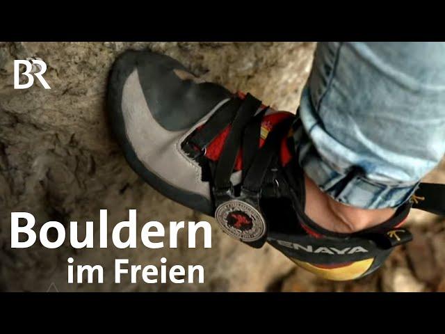 Bouldern ohne Halle im Freien: Ran an den Fels | Bergauf-Bergab | Klettern | BR