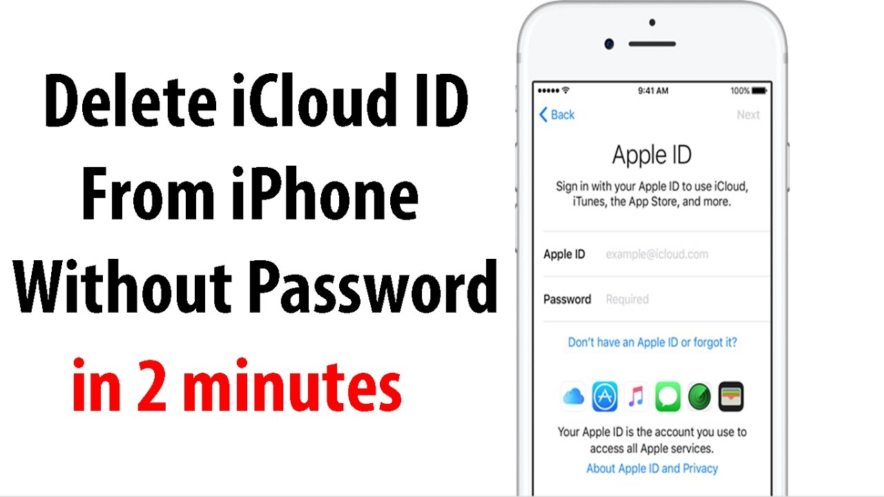 how to delete icloud account from iphone remove icloud apple id from iphone without password ios 10 19977