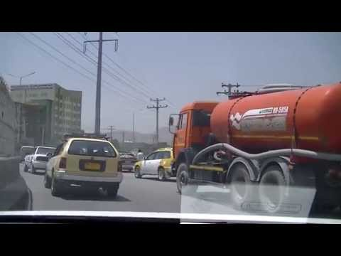 Driving in Kabul - From Quwai Markaz to Khair Khana Aug 2014