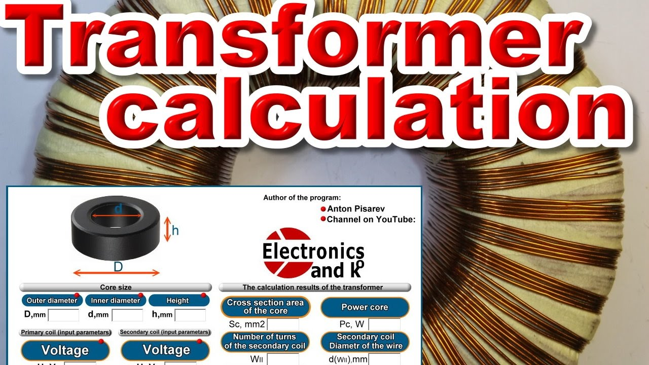 Toroidal transformer calculation calculator youtube toroidal transformer calculation calculator greentooth Choice Image