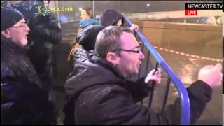 20.02.2014 Naganie z miejsca zabójstwa Niemcowa