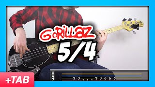Gorillaz - 5/4 | Bass Cover with Live Tabs