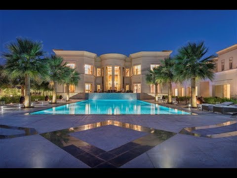 Majestic Golf Course Mansion in Emirates Hills, Dubai, United Arab Emirates