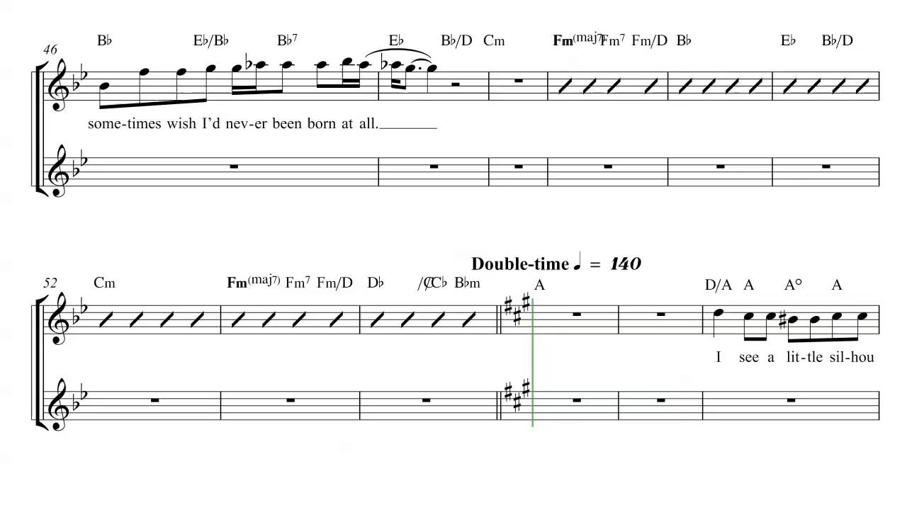 flute bohemian rhapsody queen sheet music chords and vocals