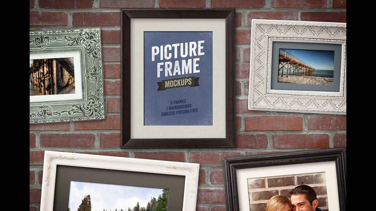 How to Use Picture Frame Mockups in Photoshop - YouTube