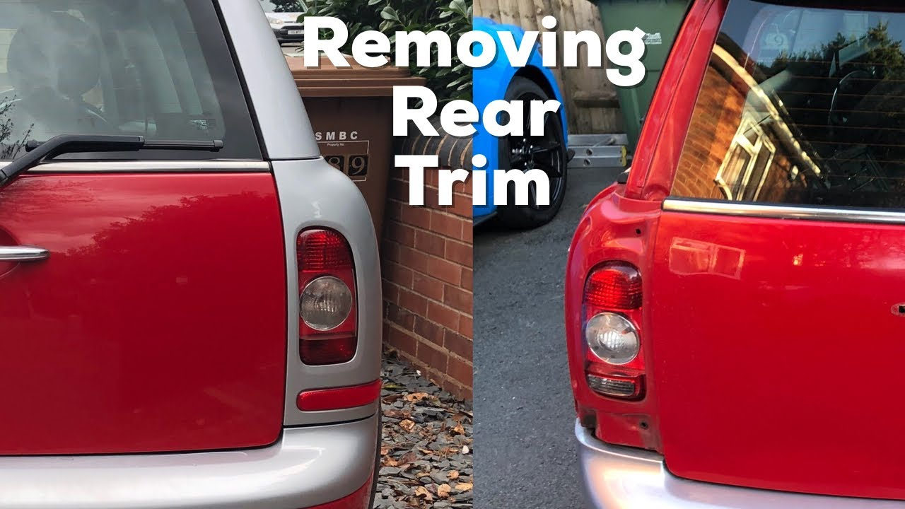 Mini Clubman R55 How To Remove The Rear Boot Surround Trim C