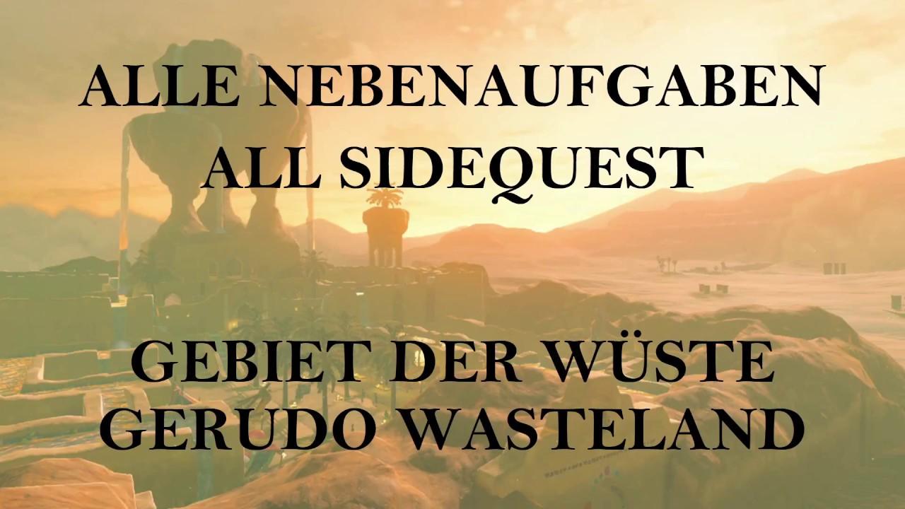 Zelda Botw Alle Nebenaufgaben All Sidequest Ebene Hugel Ridgeland Central Hyrule Youtube