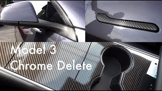 Tesla Model 3 - Interior and Exterior Delete - Good Bye Fingerprints