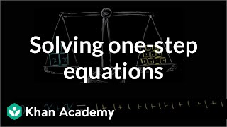Intuition for solving one-step equations | Linear equations | Algebra I | Khan Academy
