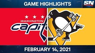 NHL Game Highlights   Capitals vs. Penguins – Feb. 14, 2021