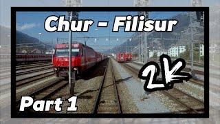 Cab ride RhB Chur - Filisur 1/8! [ALBULABAHN]