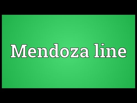 Mendoza Line Meaning